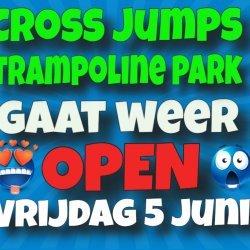 cross jumps trampolinepark weer open
